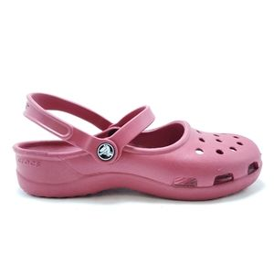 Rose Crocs sz 8
